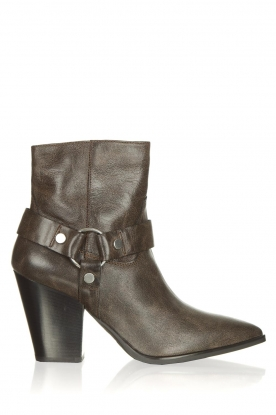 Janet & Janet | Leather boots Felicia | dark brown