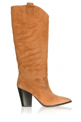 Janet & Janet |  Suede boots Diana | camel
