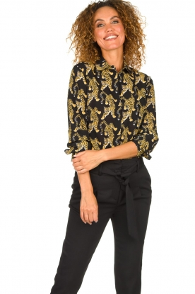 Silvian Heach | Blouse with print Capuanis | black