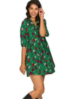 ba&sh |  Floral dress Pascou | green
