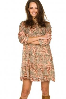 ba&sh |  Dress with aztec print Mahaut | beige