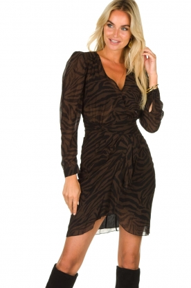 ba&sh |  Zebra print dress Saphir | brown