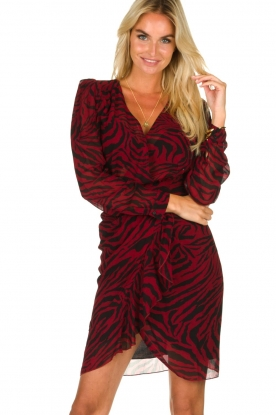 ba&sh |  Zebra print dress Saphir | red