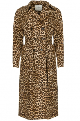 ba&sh | Trenchcoat met luipaardprint Fauve | dierenprint