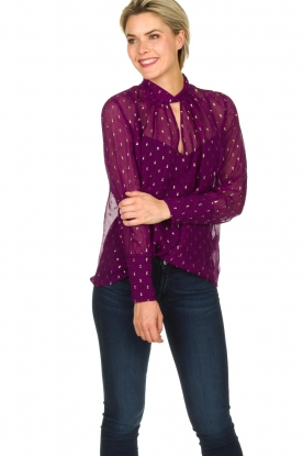 ba&sh |  Lurex print blouse Cabri | purple