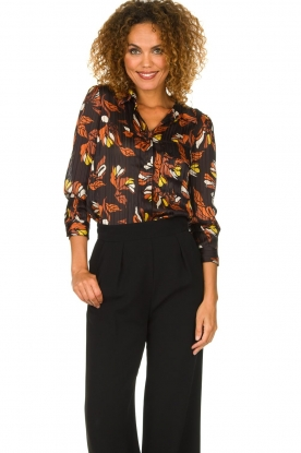 ba&sh |  Floral blouse Ava | black