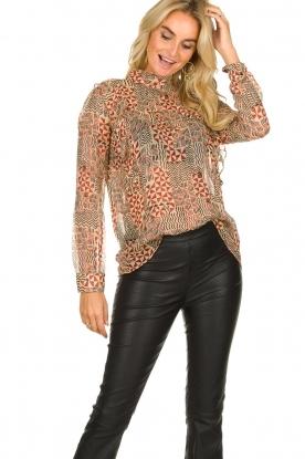 ba&sh |  Printed blouse Mia | natural