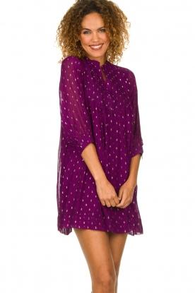 ba&sh    Lurex print dress Cycy   purple