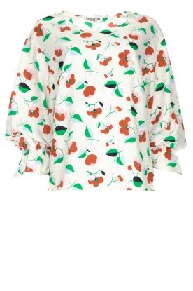 Essentiel Antwerp |  Floral blouse Tiesto | white