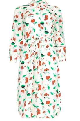 Essentiel Antwerp |  Floral midi dress Tong | white
