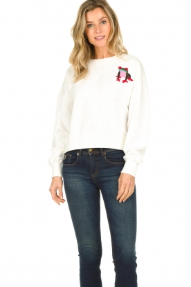 Essentiel Antwerp    Sweater with sequins application Test   white
