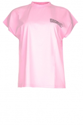 Essentiel Antwerp |  T-shirt with text print This | pink