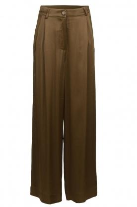 Essentiel Antwerp |  Wide leg trousers Taboe | brown