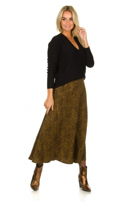 Essentiel Antwerp |  Leopard print maxi skirt  Tilde | Animal