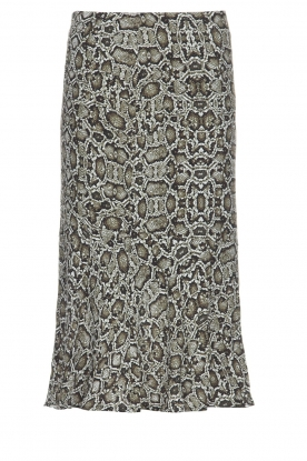 Essentiel Antwerp |  Snake print midi skirt Tuttebel | animal print