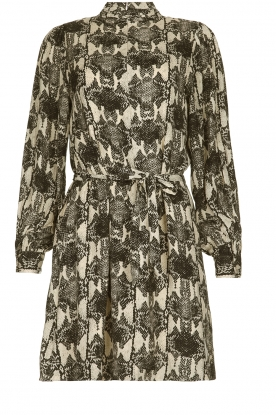 Essentiel Antwerp |  Dress with snakeprint Tesla | animal print