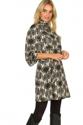 Essentiel Antwerp |  Dress with snakeprint Tesla | animal print
