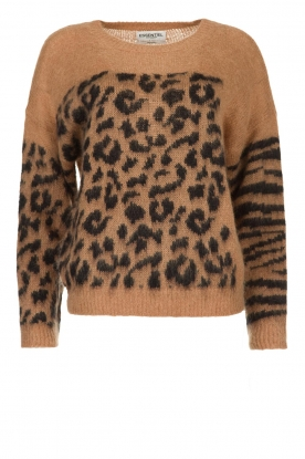 Essentiel Antwerp |  Knitted sweater with animal print Triboli | animal print