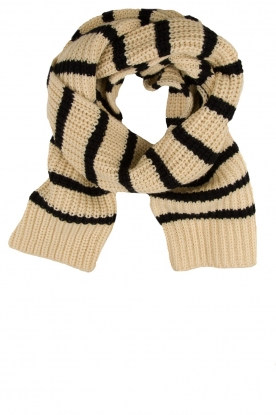 Essentiel Antwerp |  Striped scarf Testern | natural