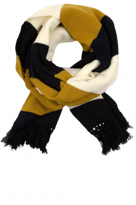 Essentiel Antwerp |  Striped scarf Tashion | black