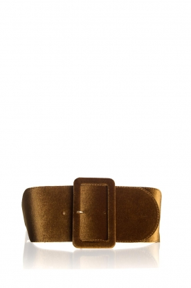 Kocca | Velvet belt Anelia | brown