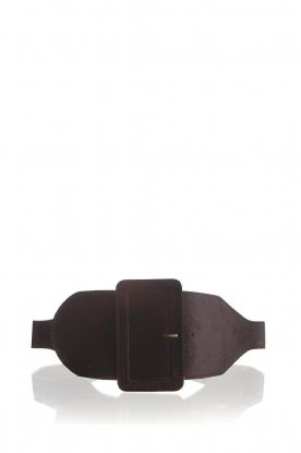 Kocca | Velvet belt Anelia | black