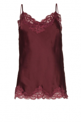 Gold Hawk | Silk top Elin | burgundy