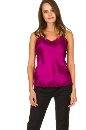 Gold Hawk |  Silk top Elin | pink