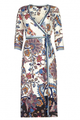 Hale Bob |  Floral wrap dress Zetta | white