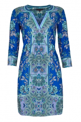 Hale Bob |  Floral dress Galiena | blue