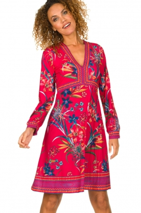 Hale Bob |  Floral dress Anafa | red