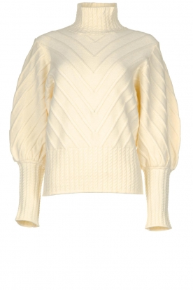 Silvian Heach |  Turtleneck sweater Tapajos | off-white