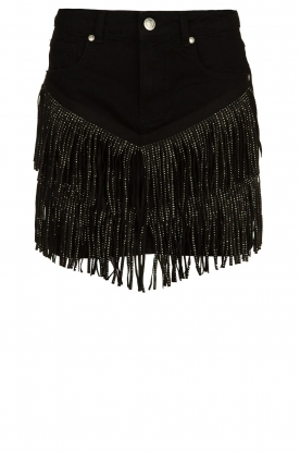 Silvian Heach |Skirt with fringes Taibir | black