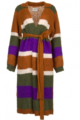 Antik Batik | Knitted cardigan Gina | brown