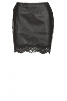 Patrizia Pepe |  Faux leather skirt Aida | black