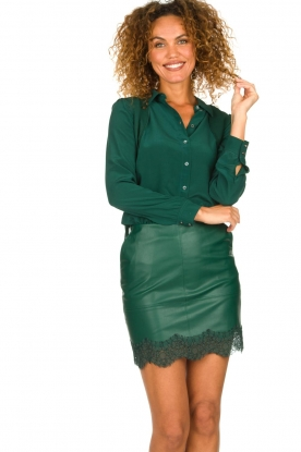 Patrizia Pepe |  Faux leather skirt Aida | green