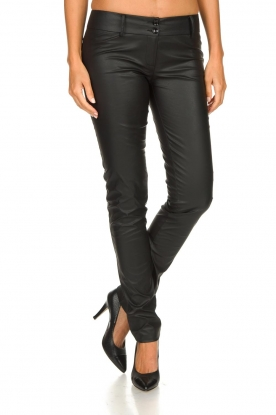 Patrizia Pepe |  Faux leather pants Fienne | black