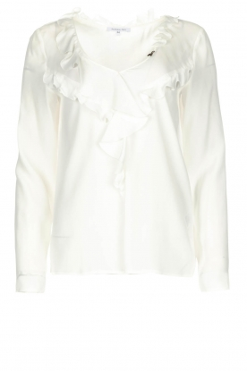 Patrizia Pepe |  Blouse with ruffles Vivian | white