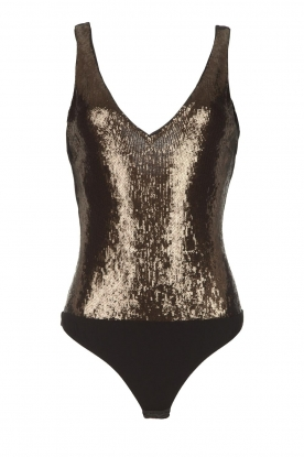 Patrizia Pepe |  Body top with sequins Rosanna | black