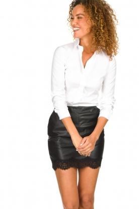 Patrizia Pepe |  Classic body blouse Tori | white