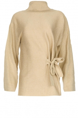 Patrizia Pepe |  Turtleneck swaeter with lurex Puck | gold