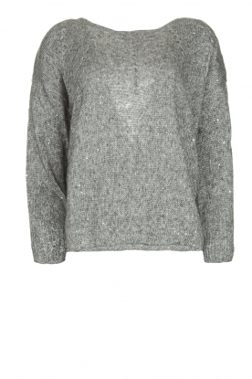 Patrizia Pepe |  Sweater with lurex and sequins Noelle | grey