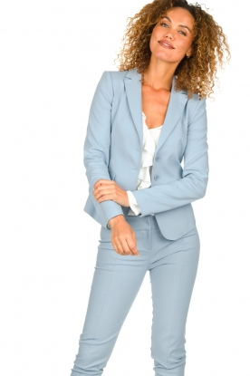 Patrizia Pepe |  Classic stretch blazer Nicole | blue