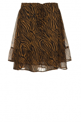 Set |  Skirt with zebra print Yara | animal print