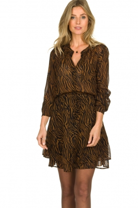 Set |  Skirt with zebra print Yara | animal print