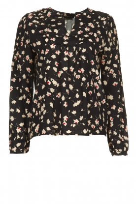 Set |  Blouse with floral print Koy | black