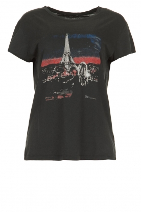 Set |  Cotton t-shirt with print Paris | black