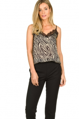 Set |  Top with zebra print Jess | dierenprint