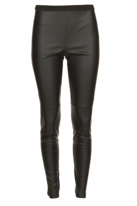 Set |  Faux leather leggings Merie | black