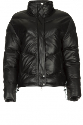 Set |  Leather down jacket Juliet | black